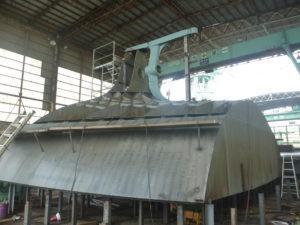 ㈱アイ・エス・ビー殿 499総トン型貨物船 ブロック製作工事